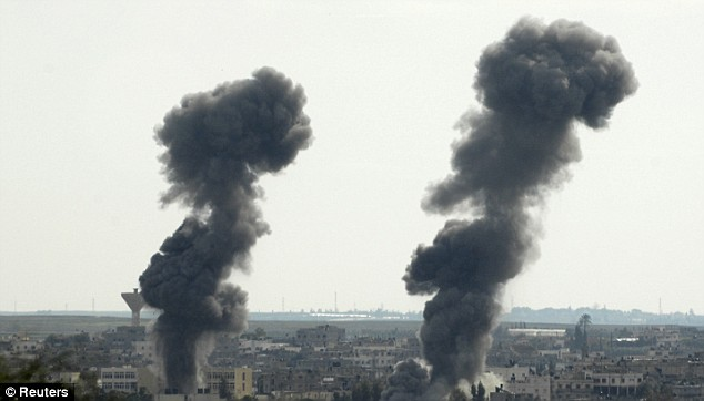 explosions in the gaza strip