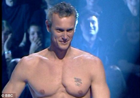 Foster, who won the celebrity edition of the show, fulfilled his promise to host ANne Robinson in removing his shirt