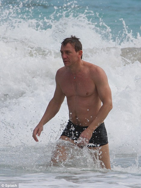 Craig emerges from the sea