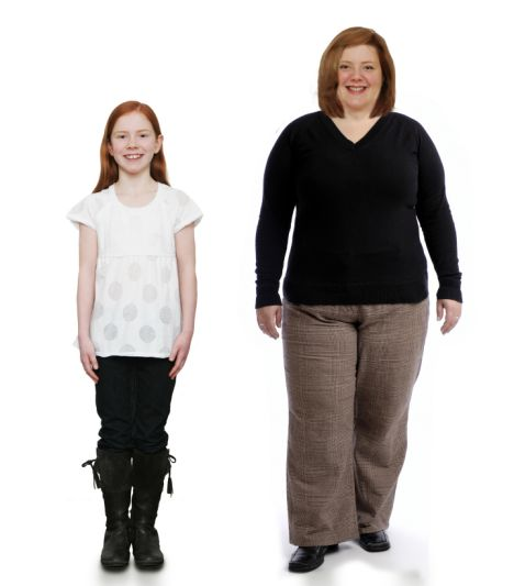 Pictured: How a healthy 10-year-old girl would turn into ...