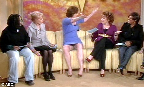 Sigourney Weaver did a Sharon Stone as she appeared to flash the audience of a U.S TV show