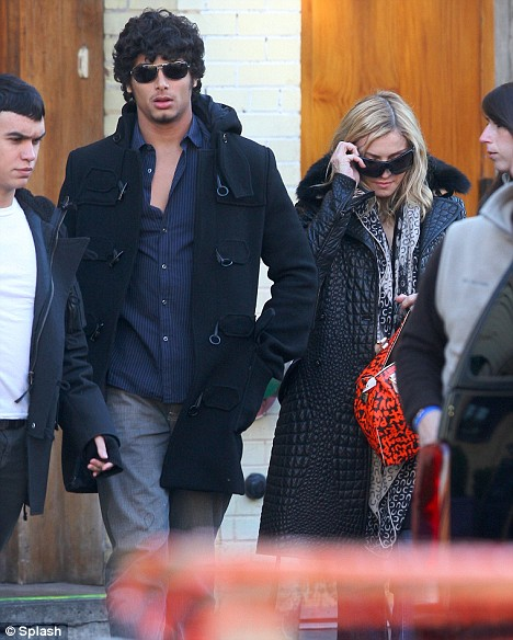 Madonna seen leaving Macelleria restaurant in the meat packing distric
