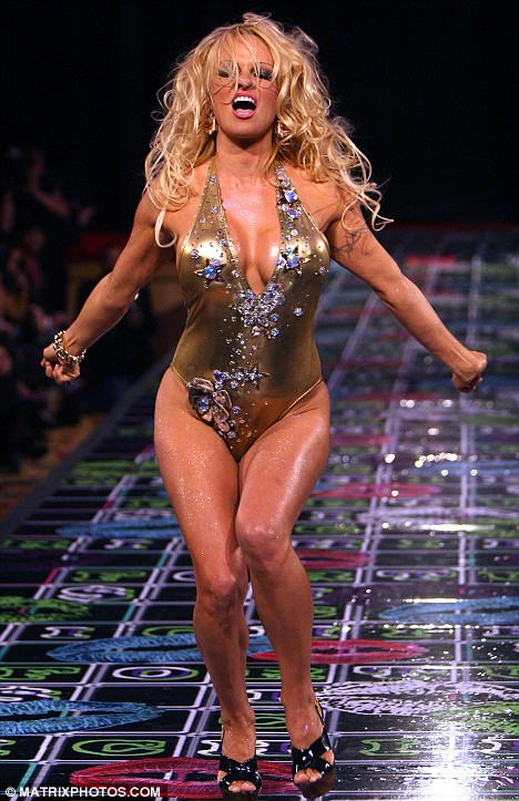 Still got it: Ten years after baywatch was cancelled and Pamela Anderson flaunted her swimsuit-clad body on the catwalk for Richie Rich at New York Fashion Week