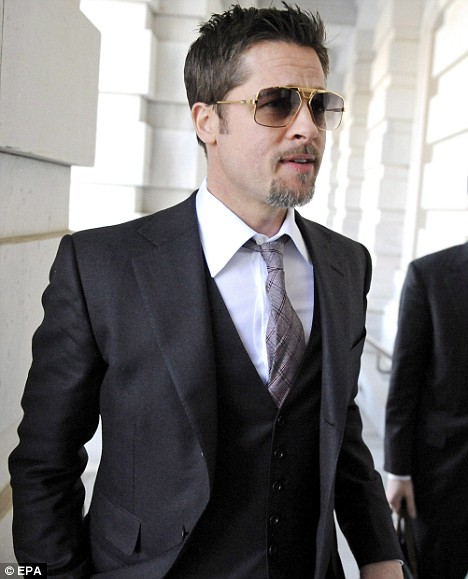 The many shades of Brad Pitt: The actor sported a grey goatee beard on his