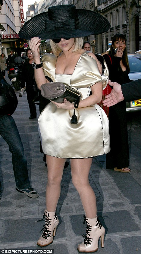 She's a Lady: Gaga arrives at the Hogan Party in Paris