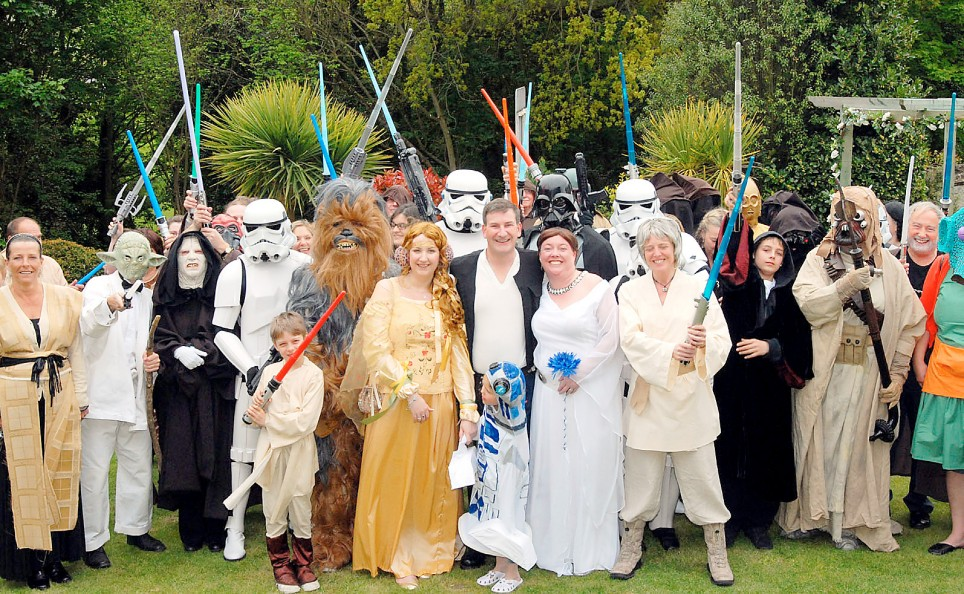 British Wedding Star Wars Geek Style