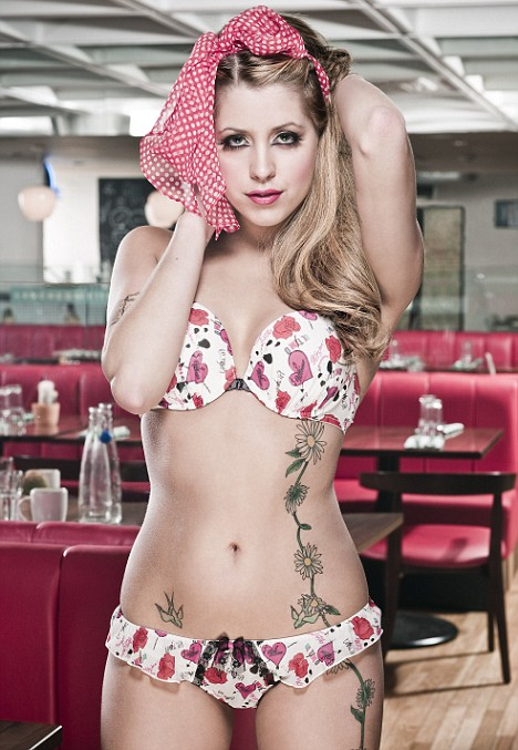 Stripped down: Peaches Geldof has landed herself a six-figure salary posing in the new range of Miss Ultimo underwear