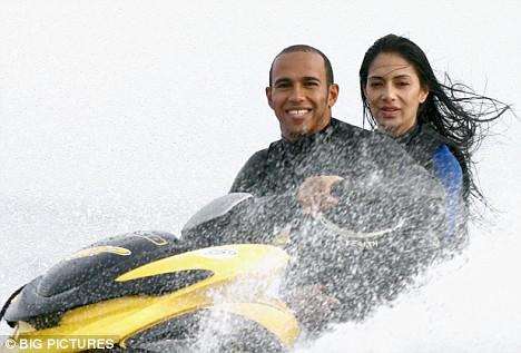 Lewis Hamilton Rides The Crest Of A Wave On Speeding Jet
