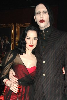 Dita Von Teese with her Husband Marilyn Manson