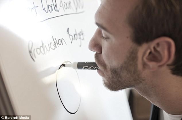 Nick writes using his mouth