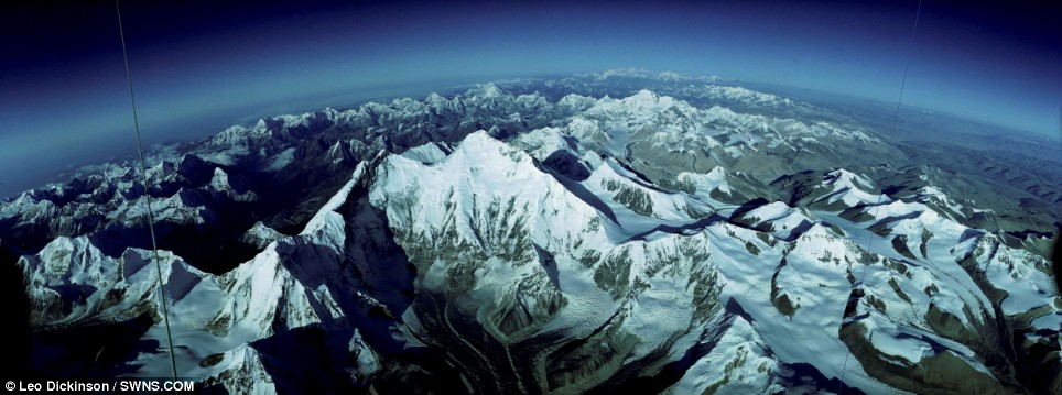 Everest From 36,000ft by Leo Dickinson