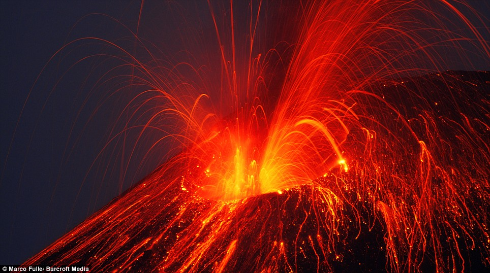 Infamous: Anak Krakatoa caused 36,000 deaths after a fiery eruption in 1883 - the highest number of human deaths caused by a volcano ever