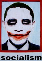 Controversy: The poster, which depicts President Barack Obama as Batman villain The Joker has divided U.S. opinion