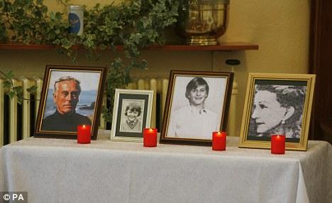 Portraits of Lord Mountbatten, Paul Maxwell, the Hon Nicholas Knatchbull and Lady Doreen Bradbourne