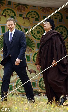 Gaddafi and tony blair