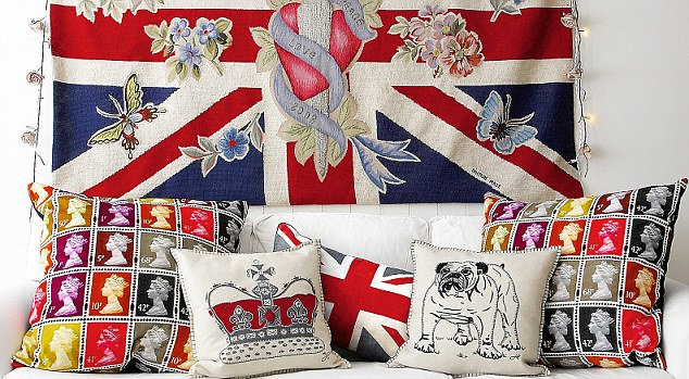 target chair cushions galway covers contact number fly the flag for britain with these union jack interiors | daily mail online