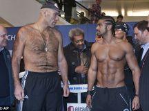 David Vs Goliath boxers square up ahead of the big fight ...