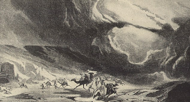 According to legend, the army was buried in a sandstorm.