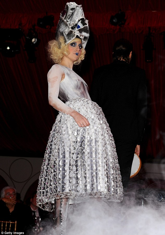Lady Gaga performs during the MOCA NEW 30th anniversary gala held at MOCA