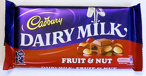 Image result for Cadbury (fruit and nut)