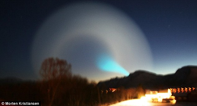 Confusion: The Norwegian Meteorological Institute was flooded with calls after the light storm