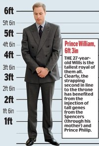 Why, at 6ft 3in, Prince William towers over his titchy ...