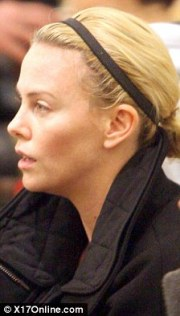 charlize theron shows bare-faced