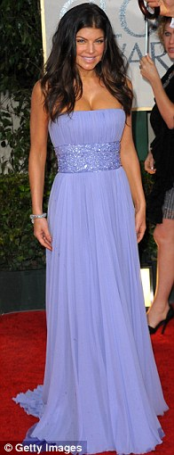 Fergie of The Black Eyed Peas arrives at the 67th Annual Golden Globe Awards