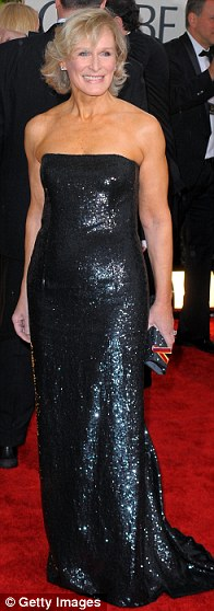 Glenn Close arrives at the 67th Annual Golden Globe Awards