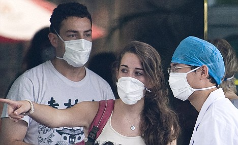 Students quarantined in China chat with a health worker in  Beijing