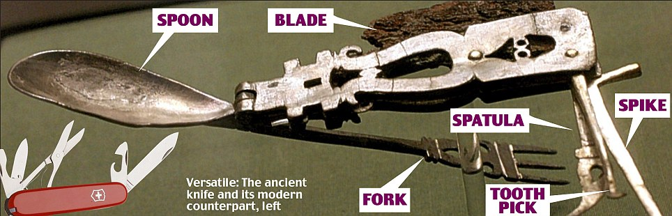 The Roman army pen knife