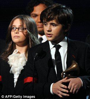 Michael Jackson's children Prince (R) and Paris