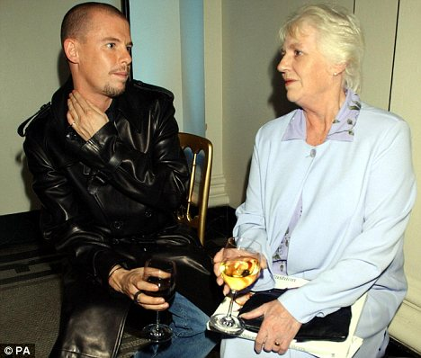 Alexander McQueen with his mother Joyce in 2001