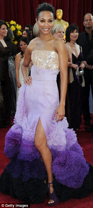 Avatar star Zoe Saldana in Givenchy by Riccardo Tisci