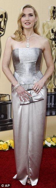 Kate Winslet wore Yves Saint Laurent with Tiffany jewels