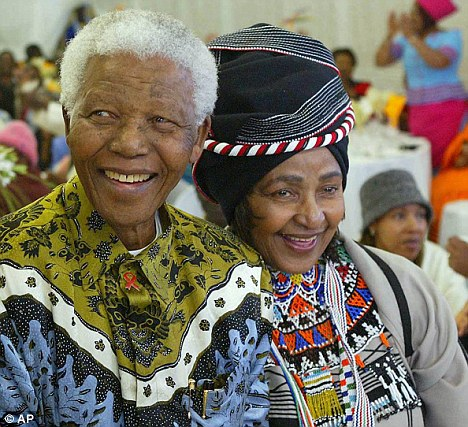 Party: Nelson and Winnie Mandela in 2004