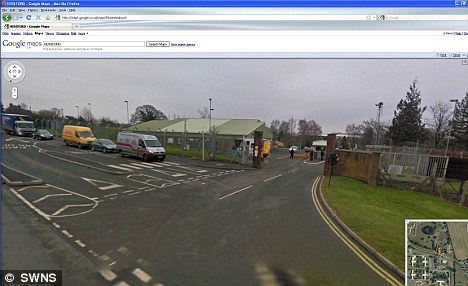 The Google Street View of the SAS base in Credenhill,  Herefordshire