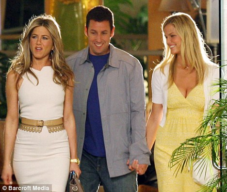 Jennifer Aniston and Adam Sandler