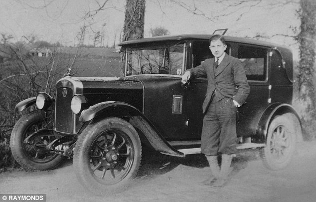Glory days: The Austin with its current owner's father Leslie Bulled