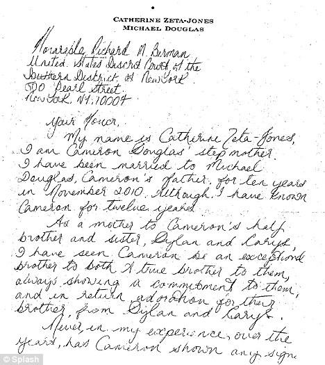 Catherine Zeta-Jones pens handwritten note seeking