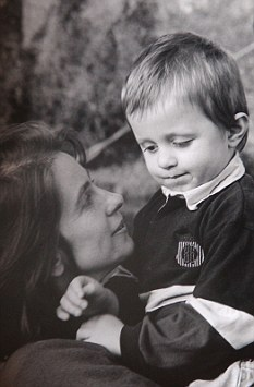 Virginia Bovell with Danny, aged four