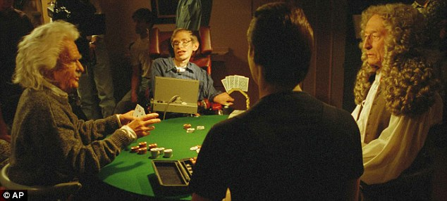 Stephen Hawking in a scene from Star Trek