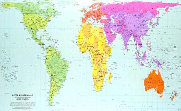 Peters Projection World Map