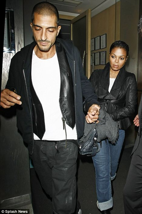 Dining out: Singer Janet Jackson and new boyfriend Wissam Al Mana leaving Nobu Berkeley