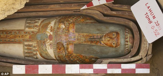 The painted wooden sarcophagi dated as far back as 2750 BC.