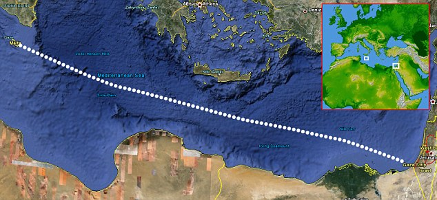 Route: MV Rachel Corrie set off from Malta heading for Gaza
