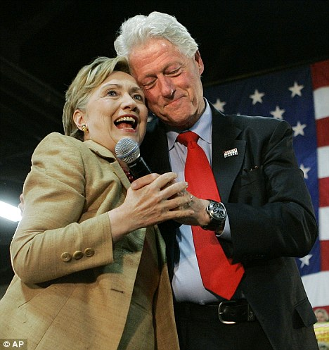 United: Hillary Clinton stood by her husband Bill after an affair with White House worker Monica Lewinsky while he was U.S. President