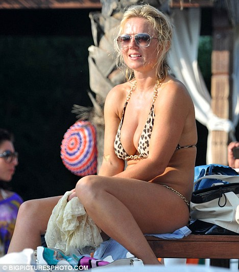 Geri Halliwell in holiday bustup with Henry Beckwith