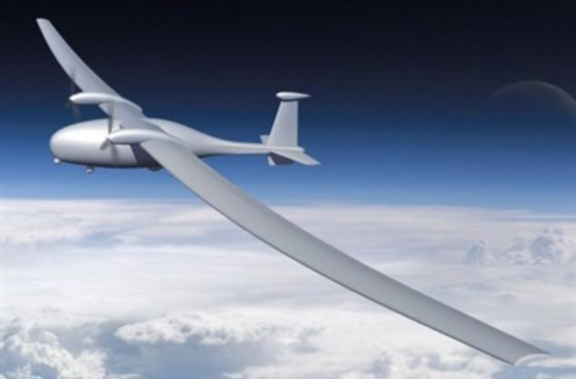 An artist's impression of the high-altitude spy plane