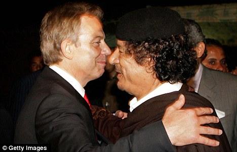 Blair meets Gaddafi